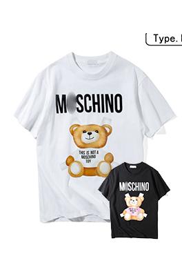 【モスキーノ MOSC*INO】 ネーム有り 高品質 メンズ レディース 半袖Tシャツ aat4002