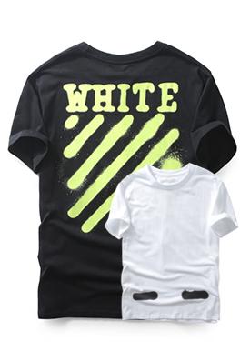 【オフホワイト OFF-WHITE】高品質 限定品 半袖 Tシャツ aat3081