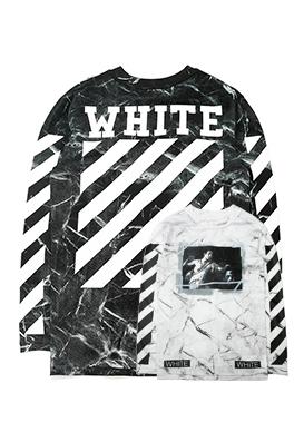 【オフホワイト OFF-WHITE】高品質 限定品 長袖 Tシャツ aat3136