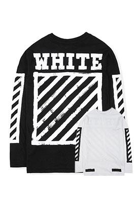 【オフホワイト OFF-WHITE】  高品質 長袖 Tシャツ  aat3233