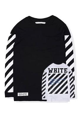 【オフホワイト OFF-WHITE】高品質 限定品 長袖 Tシャツ aat3249