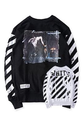 【オフホワイト OFF-WHITE】 高品質 限定品 長袖 Tシャツ aat3469