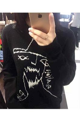 【ヨウジヤマモト Yohji Yam*moto】Y-3  ニット セーター メンズファッション流行り秋冬カジュアル aat3475
