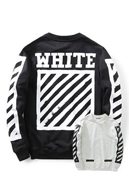 【オフホワイト OFF-WHITE】超高品質 メンズ レディース 長袖 スウェット aat3636