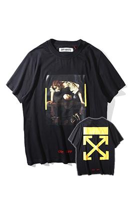 【オフホワイト OFF-WHITE】超高品質 メンズ レディース 半袖Tシャツ aat3676