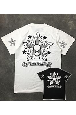 【クロムハーツ CHROME H*ARTS】ネーム無し  高品質 メンズ レディース 半袖Tシャツ  aat3764