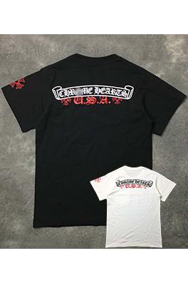 【クロムハーツ CHROME H*ARTS】ネーム無し 高品質 メンズ レディース 半袖Tシャツ  aat3765
