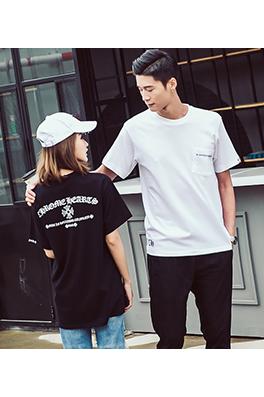 【クロムハーツ CHROME H*ARTS】ネーム有り 高品質 メンズ レディース 半袖Tシャツ aat3908