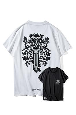 【クロムハーツ CHROME H*ARTS】ネーム有り 高品質 メンズ レディース 半袖Tシャツ aat3917