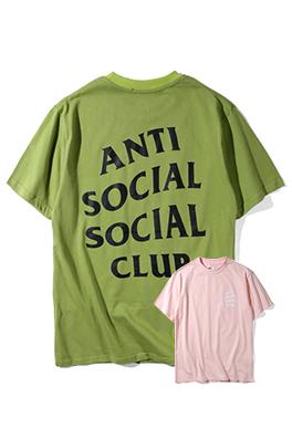 【Anti Social Social Club】ネーム無し 高品質 メンズ レディース 半袖Tシャツ aat3923