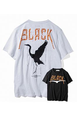 【オフホワイト OFF-BLACK】 超高品質 メンズ レディース 半袖Tシャツ  aat3933
