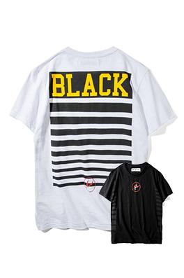 【オフホワイト OFF-BLACK】 超高品質 メンズ レディース 半袖Tシャツ  aat3937