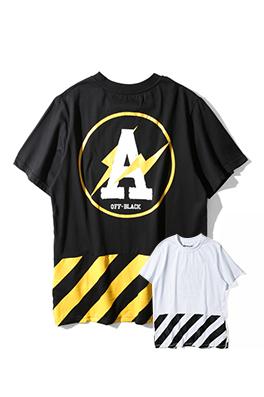 【オフホワイト OFF-BLACK】 超高品質 メンズ レディース 半袖Tシャツ  aat3942