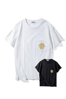 【クロムハーツ CHROME H*ARTS】ネーム有り 高品質 メンズ レディース 半袖Tシャツ aat3992