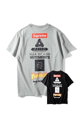 【シュプリーム S*PREME】 ネーム有り 高品質 メンズ レディース 半袖Tシャツ aat4016