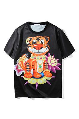 【ドルガバ  D*lce&Ga*bana】 ネーム有り 高品質 メンズ レディース 半袖Tシャツ aat4032