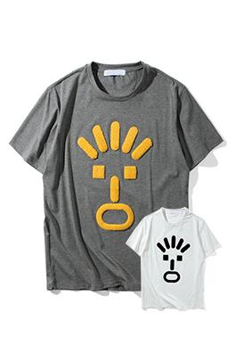【フェンディ F*NDI】 ネーム有り 高品質 メンズ レディース 半袖Tシャツ aat4042