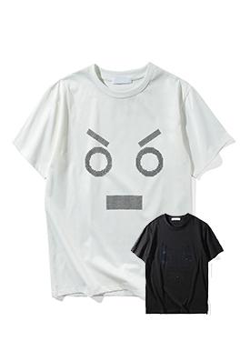 【フェンディ F*NDI】 ネーム有り 高品質 メンズ レディース 半袖Tシャツ aat4046