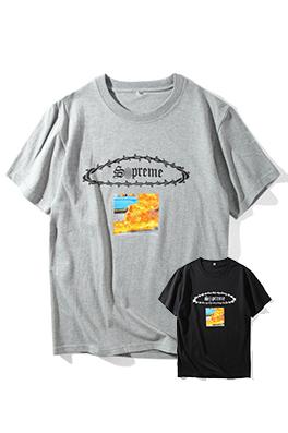 【シュプリーム S*PREME】 ネーム有り 高品質 メンズ レディース 半袖Tシャツ aat4047