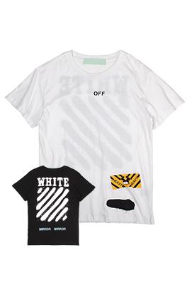 【オフホワイト OFF-WHITE】ネーム有り 高品質 メンズ レディース 半袖Tシャツ aat4064