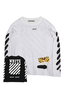 【オフホワイト OFF-WHITE】ネーム有り 高品質 メンズ レディース 長袖 aat4065