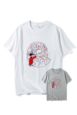 【シュプリーム S*PREME】 ネーム有り 高品質 メンズ レディース 半袖Tシャツ aat4119