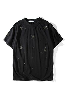 【サンローラン SAINT LAU*ENT】 ネーム有り 高品質 メンズ レディース 半袖Tシャツ aat4163