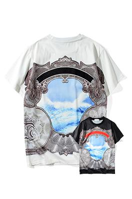 【ジバンシイ G*VENCHY】 ネーム有り 高品質 メンズ レディース 半袖Tシャツ aat4175