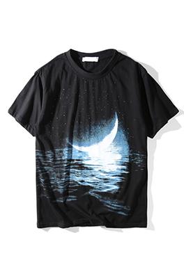 【サンローラン SAINT LAU*ENT】 ネーム有り 高品質 メンズ レディース 半袖Tシャツ aat4187