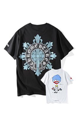 【クロムハーツ CHROME H*ARTS】 ネーム有り 高品質 メンズ レディース 半袖Tシャツ aat4192
