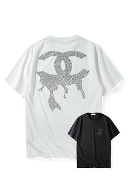 【シャネル CH*NEL】 ネーム有り 高品質 メンズ レディース 半袖Tシャツ aat4193