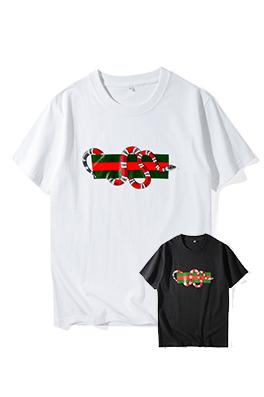 【グッチ GUC*I】 ネーム有り 高品質 メンズ レディース 半袖Tシャツ aat4196