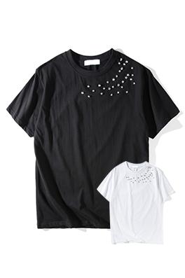 【サンローラン SAINT LAU*ENT】 ネーム有り 高品質 メンズ レディース 半袖Tシャツ aat4199