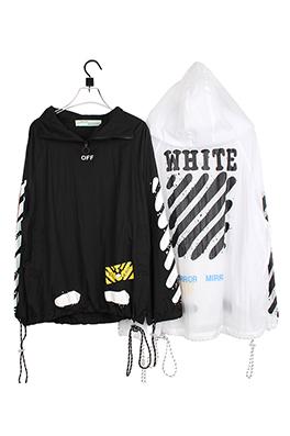 【オフホワイト OFF-WHITE】高品質  フード Tシャツ パーカー 長袖 トレーナー aat4213