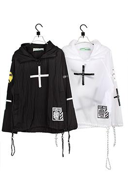 【オフホワイト OFF-WHITE】高品質  フード Tシャツ パーカー 長袖 トレーナー aat4214