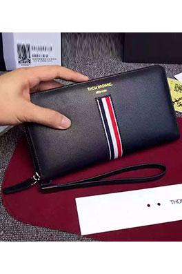 【トムブラウン THOM BR*WNE】ファスナ付き 長財布 二つ折り セカンドバッグ abg1027