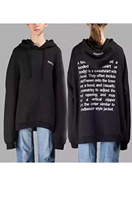 【ヴェトモンVETEMENTS】フード Tシャツ パーカー 長袖 スウェットメンズファッション ajk0553