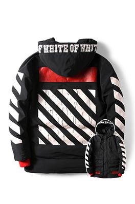 【オフホワイト OFF-WHITE】超高品質 中綿 ダウン 秋冬 ジャケットメンズファッション  ajk0808