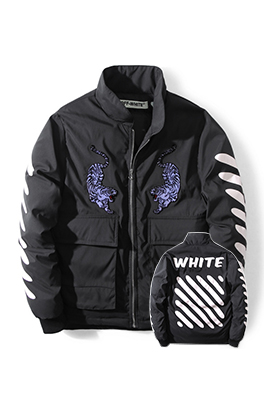 【オフホワイト OFF-WHITE】超高品質 中綿 ダウン 秋冬 ジャケットメンズファッション  ajk0810