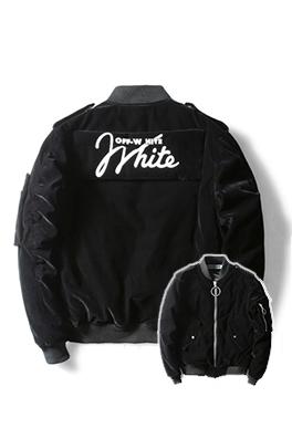 【オフホワイト OFF-WHITE】超高品質 中綿 秋冬  ジャケット アウター メンズファッション  ajk0852