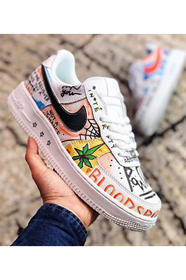 "【ナイキ NIK*】スニーカー VLONE x Nike Air Force 1 ´07 LV8 ID""Customs"" シューズ   ash2171"