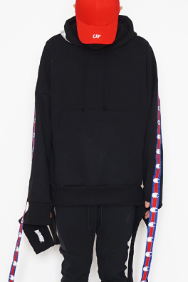 【ヴェトモンVETEMENTS】CHAMPION ST EDITION HOODIEスウェットTAPEフード prtop4176