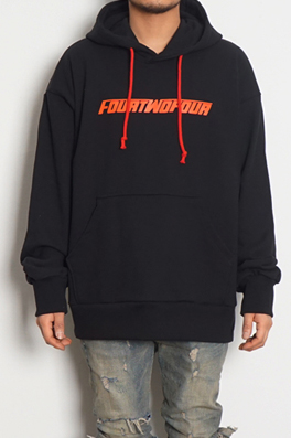 【424Fairfaxフェアファックス】X BOONTHESHOP LOGO HOODIEロゴパーカー prtop4241