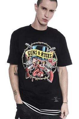 【フィアオブゴッドFEAR OF GOD】guns roses GUN Tシャツ _prtop4597